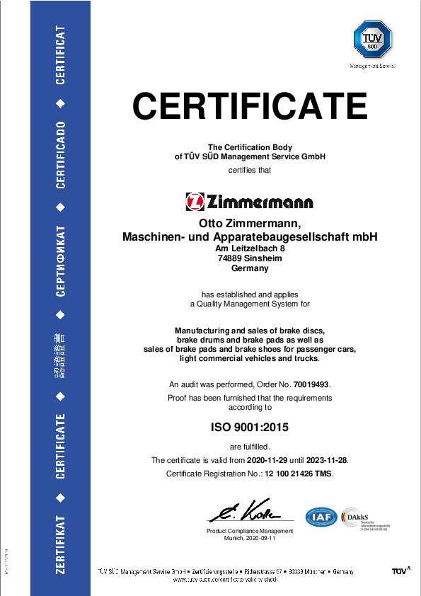 Certificate ISO 9001 PDF