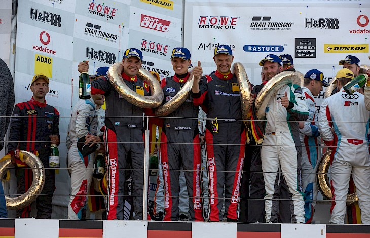 VLN 5th Run - 2019: Zimmermann team celebrates a victory